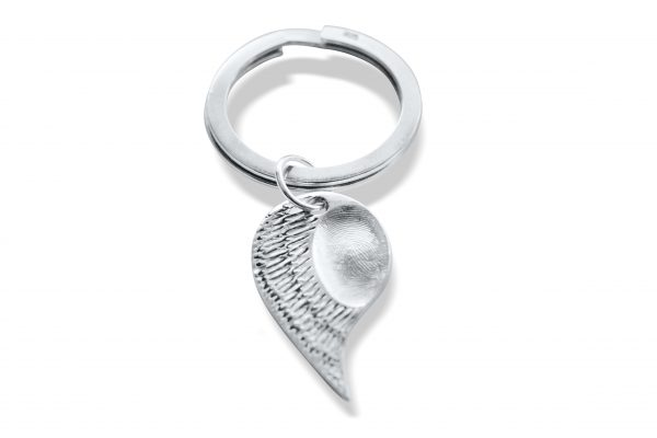 fingerprint keyring angel wing