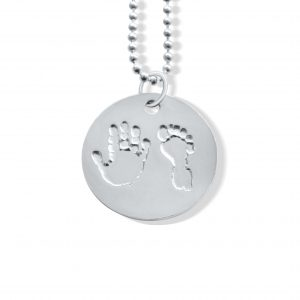 Circle Pendant with Handprints and Footprints