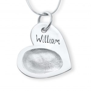 heart pendant with fingerprint