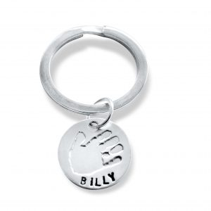 handprint keyring circle