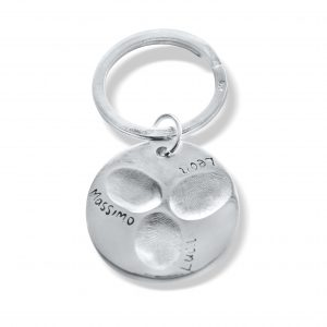 Circular Keyring Personalised with Fingerprint