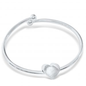 Heart Bangle with Fingerprint