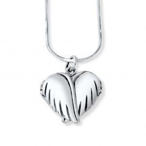 personalised locket angel wings