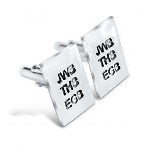 Engraved Cufflinks Rectangular