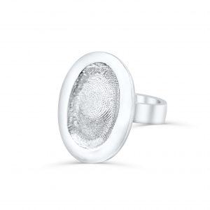 Oval Fingerprint Keepsake Ring