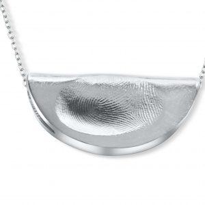 Semi Circle Fingerprint Pendant